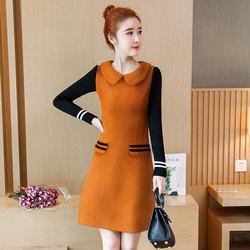 Đầm suông dạ len cổ sen cao cấp DS5193 - Hàng nhập loại 1