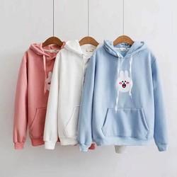 Áo hoodie THỎ TRẮNG