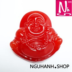 Mặt dây chuyền Phật Di lặc may mắn - Thạch anh đỏ