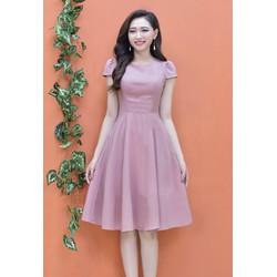 Đầm Xòe Tay Con Dễ Thương - Hồng #99520