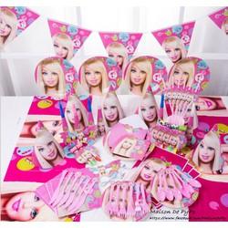 Bộ trang trí bàn tiệc sinh nhật cho bé cực xinh