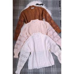 áo len tay ren