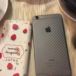 Bộ mếng dán Full mặt sau và mặt trước iphone 6Plus - 6SPlus vân Carbon