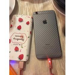 Bộ mếng dán Full mặt sau và mặt trước iphone 6 - 6SPvân Carbon
