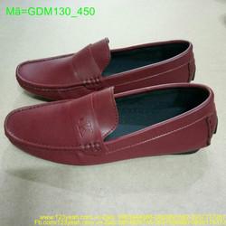 Giày mọi nam khóa ngang in logo phong cách lịch lảm GDM130
