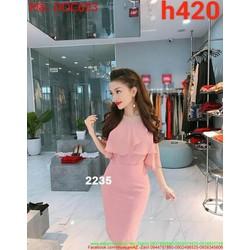 Đầm ôm body dự tiệc lai bèo màu hồng xinh xắn DOC693