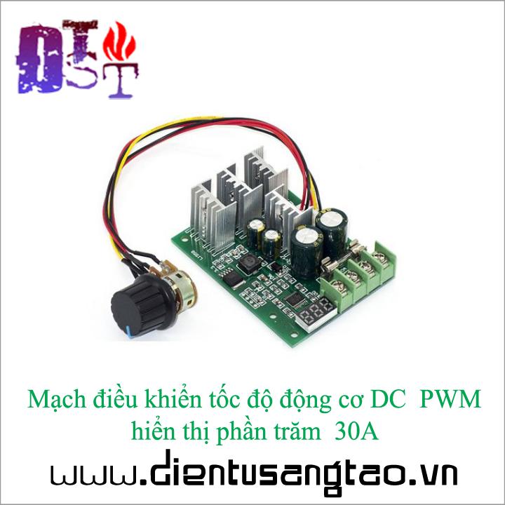 Mạch điều khiển tốc độ động cơ DC  PWM hiển thị phần trăm  30A 3