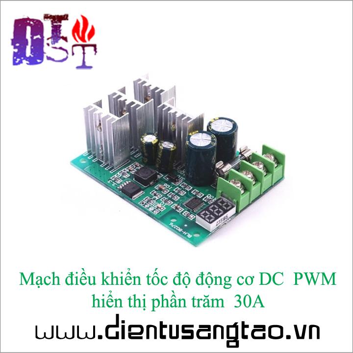 Mạch điều khiển tốc độ động cơ DC  PWM hiển thị phần trăm  30A 2