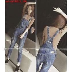 Quần yếm jean nữ kiểu yếm  QYB211
