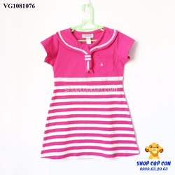 Size 1-8. Đầm thủy thủ sọc hồng