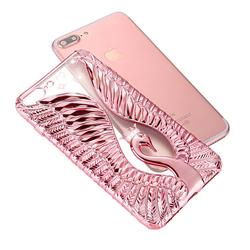 Ốp lưng silicon 3D 3 chiều thiên nga tình yêu cho Iphone 7G mới