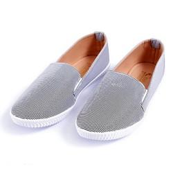 giày lười nữ sọc xám - bảo hành 6 tháng