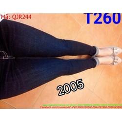 Quần jean nữ ống ôm màu xanh đậm sành điệu QJR244