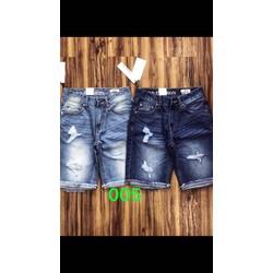 quần short jean nam rách thời trang