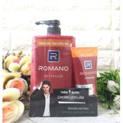 Dầu gội Romano Atitude 650ml tặng keo vuốt tóc 120gr