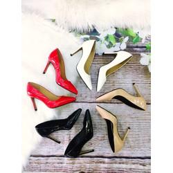 Giày cao gót bít mũi công sở , da bóng 5 cm