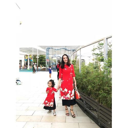 Áo dài cách tân in hoa cho mẹ và bé - 7749161 , 8197357 , 15_8197357 , 489000 , Ao-dai-cach-tan-in-hoa-cho-me-va-be-15_8197357 , sendo.vn , Áo dài cách tân in hoa cho mẹ và bé