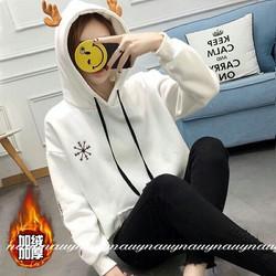 Áo hoodie nữ sừng tuần lộc dễ thương