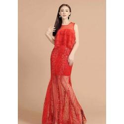 Đầm dạ hội áo tầng cao cấp