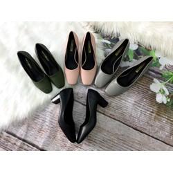 Giày cao gót bít mũi, công sở 5cm, mũi vuông