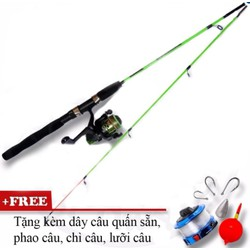 Bộ cần câu cá 2 khúc 2m4 tặng kèm phụ kiện câu cá