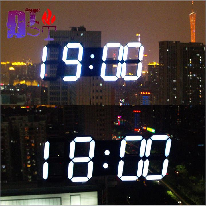 Đồng hồ led treo tường 3D đa năng - Hàng cao cấp 2