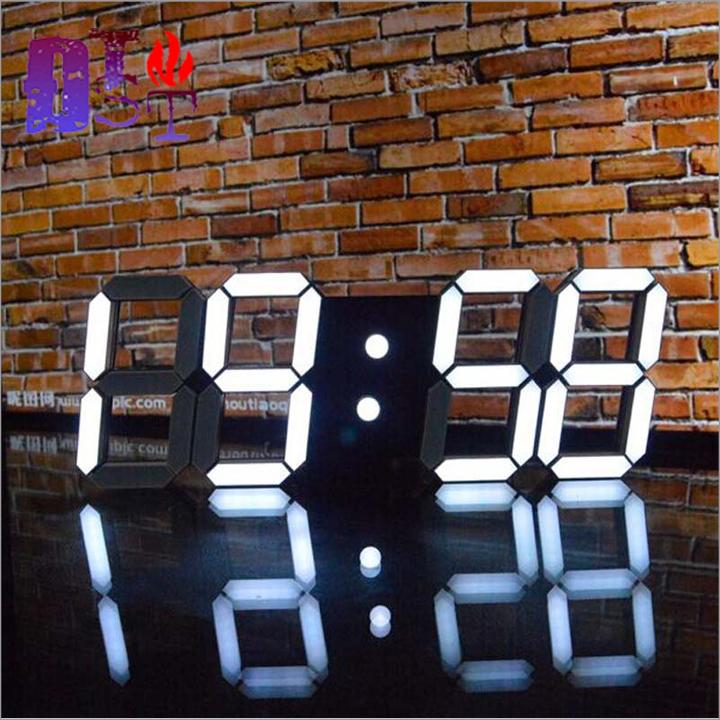 Đồng hồ led treo tường 3D đa năng - Hàng cao cấp 1