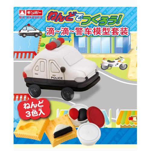 Bộ đồ chơi đất nặn bằng bột gạo Mô hình xe cảnh sát  GINCHO