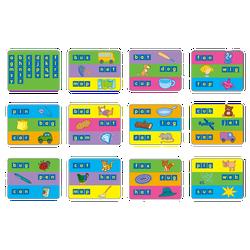Bộ Gigo toys Thẻ hình từ vựng tiếng Anh 12 mặt nhiều màu 1402