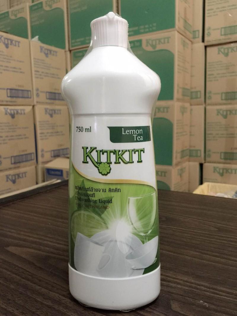 Nước rửa chén KitKit hương trà xanh chai 750ml 1
