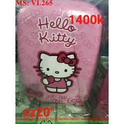 Vali kéo du lịch cho bé hình mèo xì teen màu hồng đáng yêu VL265