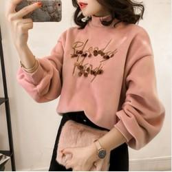 Áo nhung lót nỉ nữ kiểu Hàn Quốc - giá 350k -AL8155