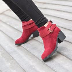 Giày Boot nữ cá tính da lộn, BOT01, Thời trang Azado