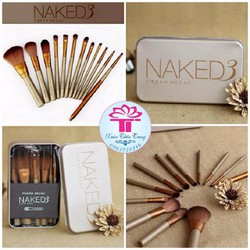 Bộ cọ Naked 3 Powder Brush 12 cây
