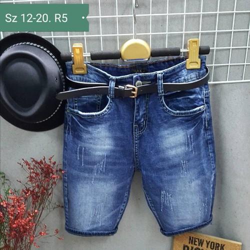 Quần jeans lửng bé trai kèm nịt 30-34kg