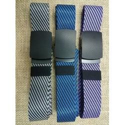 Dây nịt vải nam cao cấp sang trọng phối màu cực đẹp xám, tím, xanh