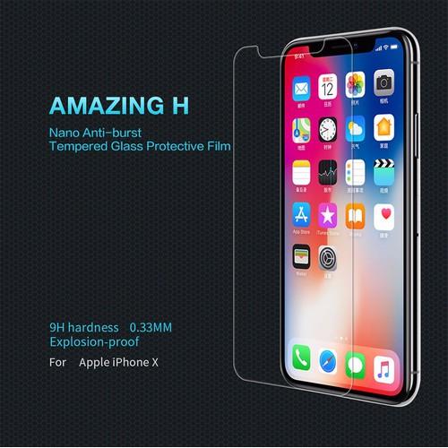 Kính cường lực cho iPhone X hiệu Nillkin chống vân tay
