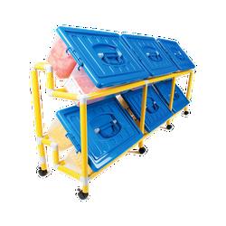 Kệ Linh Kiện 2 Tầng 6 Thùng Loại Lớn Gigo #T159 - không kèm thùng nhựa
