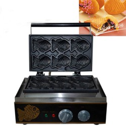 Máy làm bánh cá điện FY-112 - 6 con - Fish cake machine TAIYAKI
