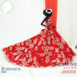 váy đỏ cực xinh cho búp bê