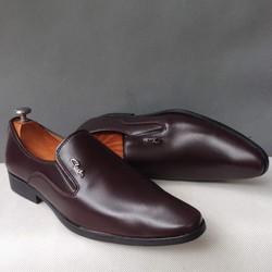 Giày tây nam trơn nâu kiểu dáng mới thời trang giá rẻ