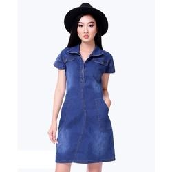 Đầm Jean Cổ Bẻ Fashion