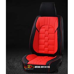 Bao ghế ô tô | Chiếu ghế Jin vuông mà đen đỏ