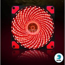 Quạt tản nhiệt CF001 có đèn LED 12V cho PC màu Đỏ