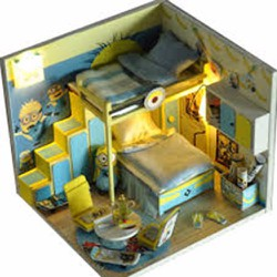 Mô hình nhà gỗ minion - mo hinh minion