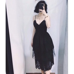 Đầm Xòe Cổ Yếm Ren Cực Xinh