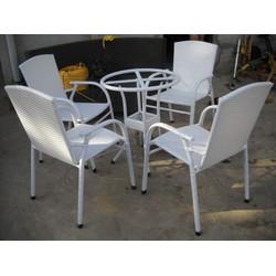 bàn ghế nhựa giả mây có rất nhiều mẫu