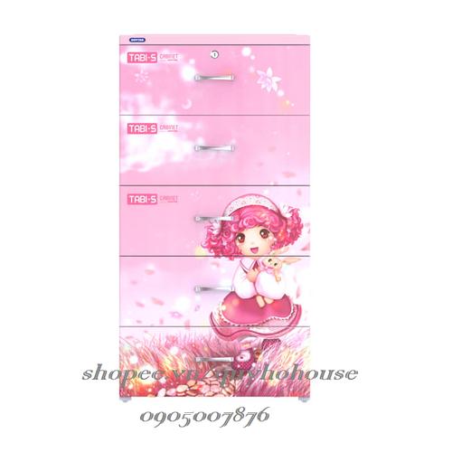 Tủ nhựa Duy Tân TABI-S, 5 tầng, màu hồng