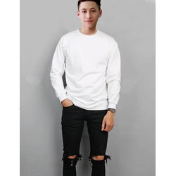 Áo Sweater White Bassic Unisex