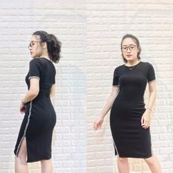 Đầm Ôm Body Xẻ Tà Nhẹ Cực Chất